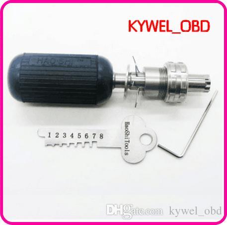7 pins haoshi tubular lock pick set ,tubular key cutter ,professional locksmith supplies locksmith tools lock pick