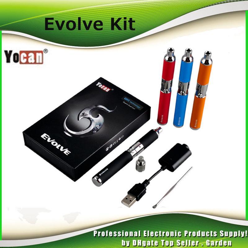100% Otantik Yocan Evolve Başlangıç Kiti 650 mah Kuvars Çift Bobinler Balmumu buharlaştırıcı Kalem Seti 5 Renkler Vape Kalemler Ecig Kitleri DHL Ücretsiz 2204020