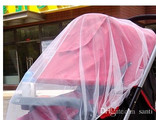 موضة جديدة الأبيض أطفال الطفل عربة عربة يدفع باليدين ناموسية يطير ميدج الحشرات علة تغطية عربة حامي