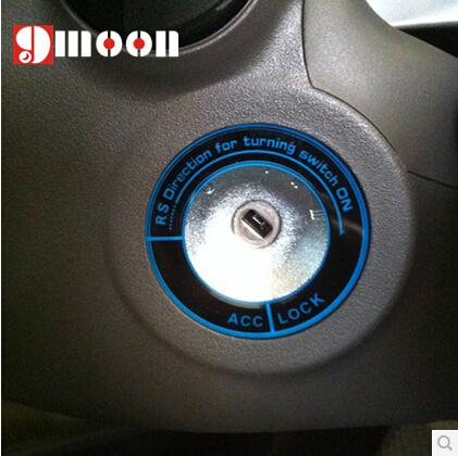 luminous Ignition Switch cover/Ring for Ford fiesta Ecosport 2013 auto accessories car parts QT47
