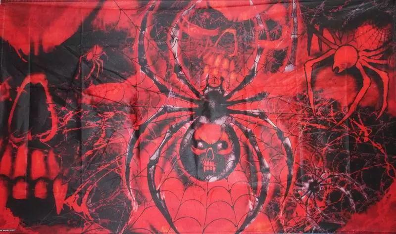 SKULL WITH SPIDERS Flag  5ft x 3ft