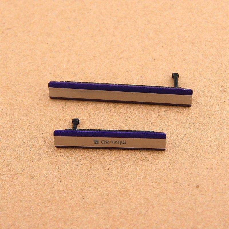 3 ألوان فتحة لبطاقة sim منفذ مايكرو sd غطاء الغبار التوصيل لسوني اريكسون z2 d6503