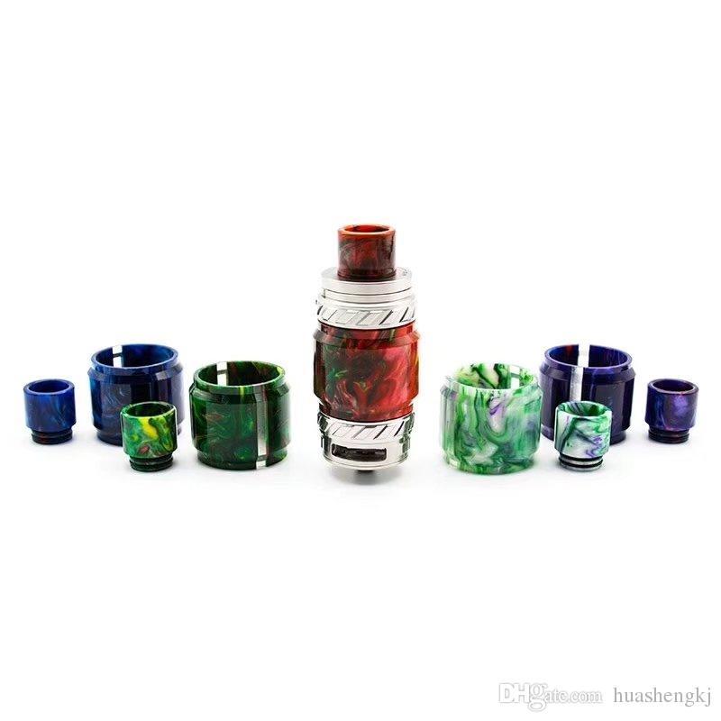 Bunte Resin Ersatzröhre Caps Big Kapazität für TFV8 Baby-Big Baby X Baby-TFV12 Glaswanne Ausgleichsbehälter Epoxy Sehfähigkeit