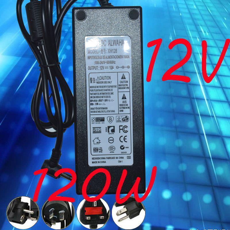 12V 10A Strömförsörjningsadapter 12V 120W Adapter 10st LOT Hög kvalitet Express Frakt 120W Adapter CE RoHS FCC UL bästa kvalitet