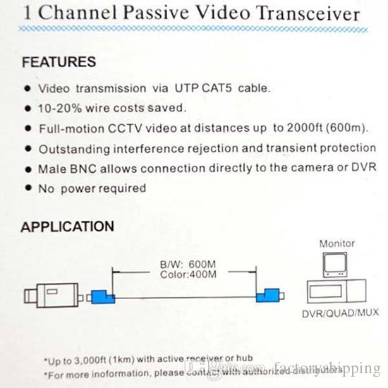 cctv video balun cat5 diagram cctv image wiring bnc connector whole r factoryshipping sells high quality video on cctv video balun cat5 diagram