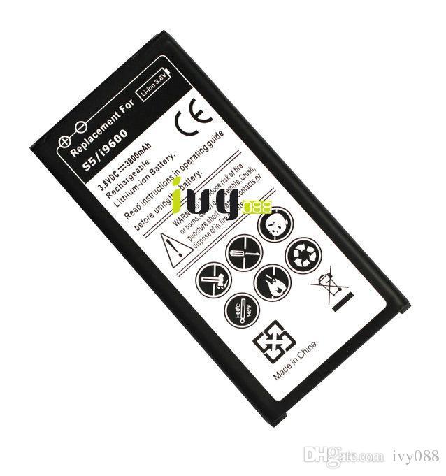 5pcs/lot 3800mAh EB-BG900BBC استبدال بطارية Samsung Galaxy S5 SV i9600 G900A G900T G900V G900P بطاريات Batterij Bateria باتري