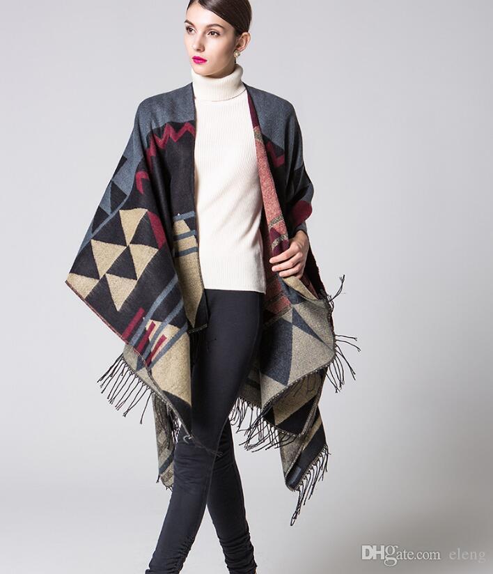 Bohemian Tassel Pashmina Women/'s Winter Warm Scarves Shawls Longer Thicken Cape