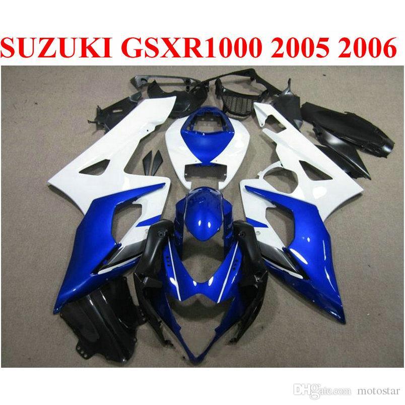 Объекты для кузова набор для Suzuki 2005 2006 GSXR1000 K5 K6 Blue White Black 05 06 GSXR 1000 Новый обтекатель TF72
