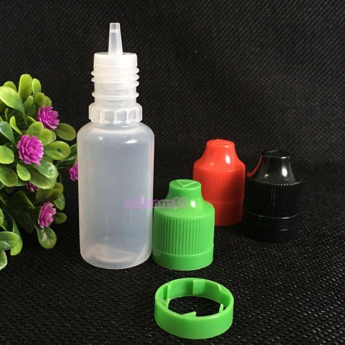 billigste e Flüssigkeit Flasche 15ml PE-Flaschen Kind manipulationssicher Kappe e Zigarette Saftflaschen 2000pcs freies Verschiffen manipulations Flaschen leer 15ml