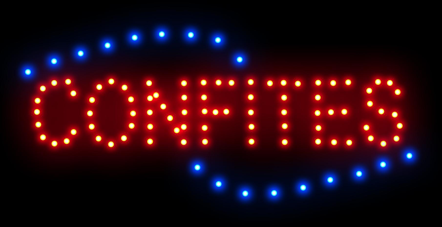 Ultra Bright LED Neon Light Animated CONFITES signe des slogans accrocheurs taille semi-extérieure 48cm * 25cm Livraison gratuite