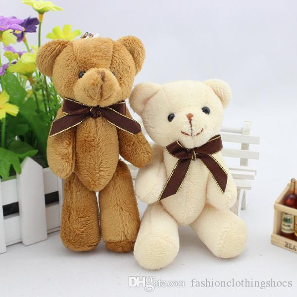 15cm 6 Inch 6'' mini teddy bears plush toy Teddy Bear cartoon Stuffed Animals soft doll kids toys Valentine's Day gift cheap