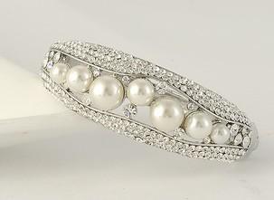 бриллиантовый Кристалл инкрустация жемчуг золото браслет леди (myyhmz)