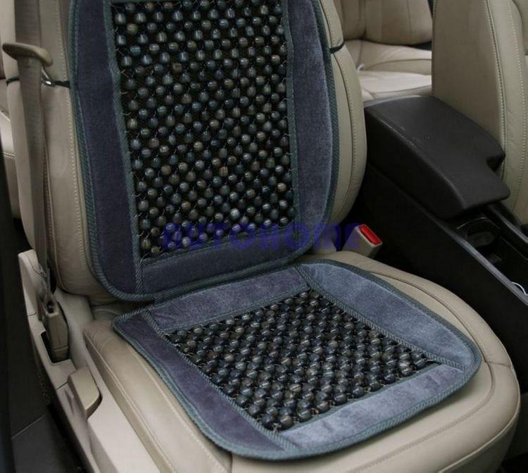 Natural Wood Bead Seat Cushion Auto Car Home Chair Cover Tan Beaded Seat Cover (3)