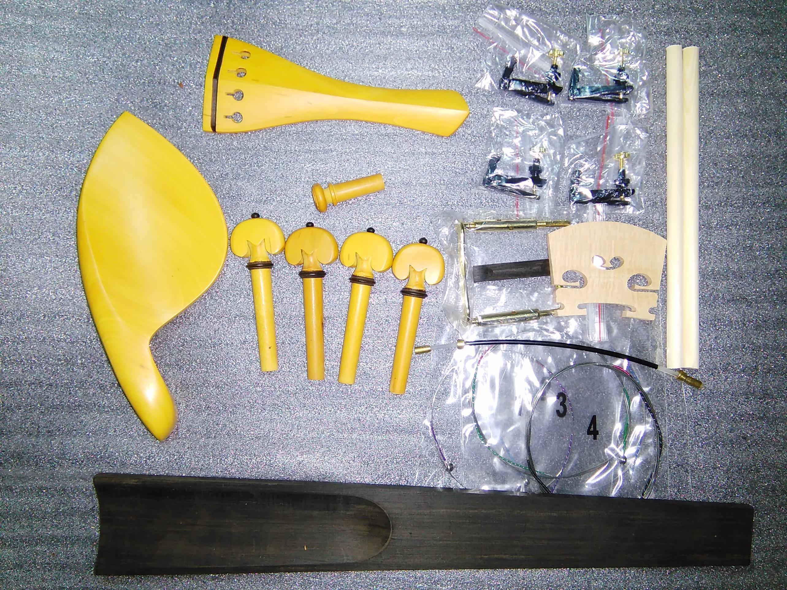 1 комплект самшит Скрипка запчасти с регулятор строк+строку+мост+звуковое сообщение+ зажим и т. д. Все в 4/4