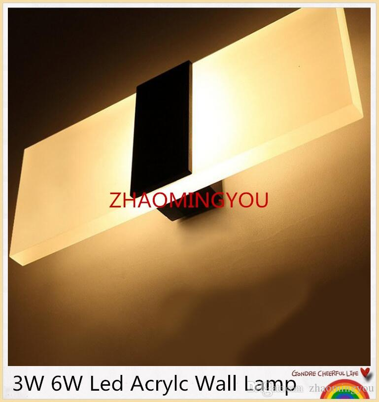 1 PCS Mini 3W / 6W Led Acrylique Applique AC85-265V 14CM Long Blanc Chaud Literie Pièce, Salon, Applique Murale