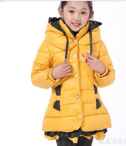 2017 New Winter Frozen Coat Girls Cotton Padded Clothes 2015 New ...