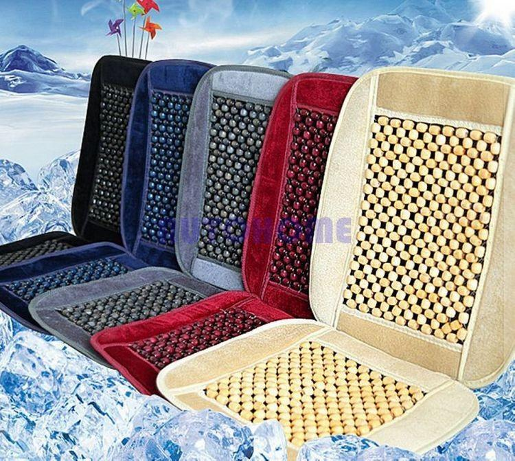 Natural Wood Bead Seat Cushion Auto Car Home Chair Cover Tan Beaded Seat Cover (1)