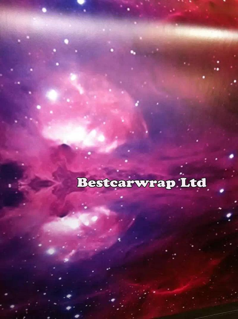 Gloss & Matte Galaxy starry stickerbomb Vinyl Car Wrap Film sticker bomb graphics decal with air release Size 1.52*20M/Roll