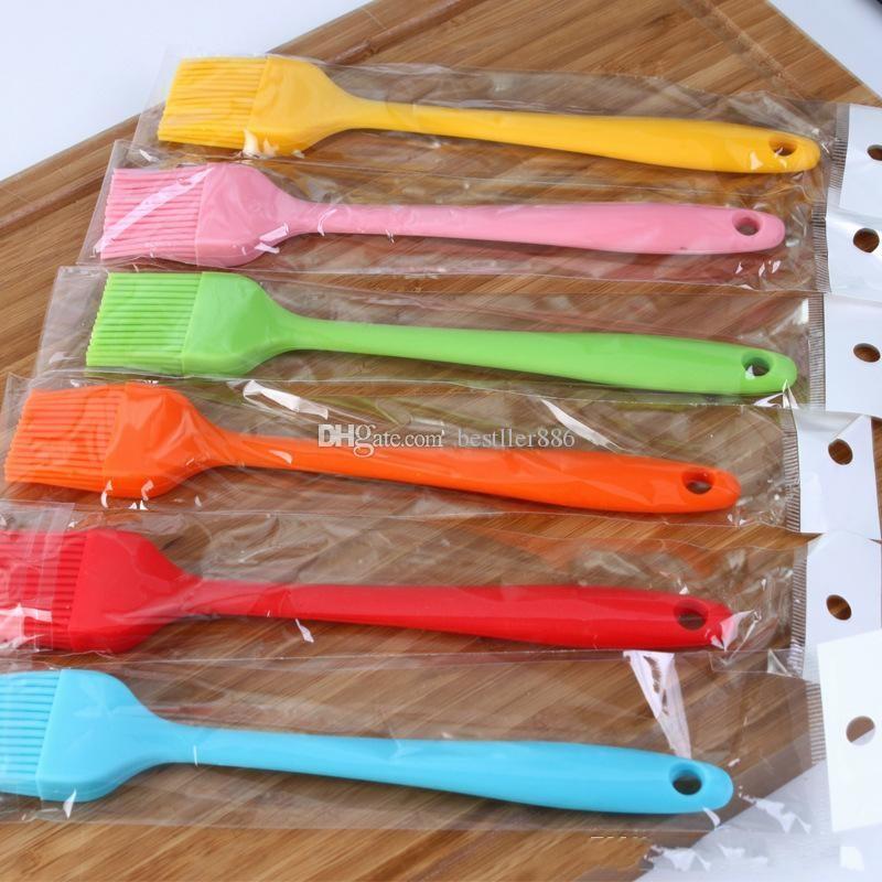 6 Colors Silicone Baking Brush Liquid Oil Cake Butter Bread Pastry Brush BBQ Utensil Safety Basting Brush ELH036