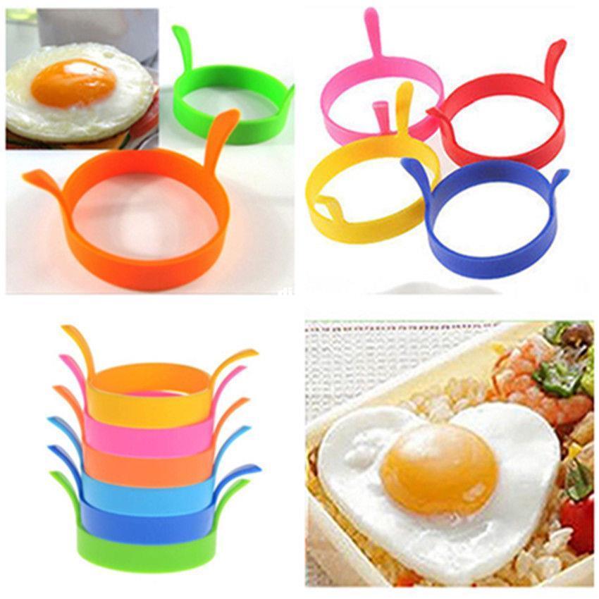 Cozinha Silicone Fritar Fry Frier Forno Poacher Egg Poach Pancake Ring Mold Ferramenta