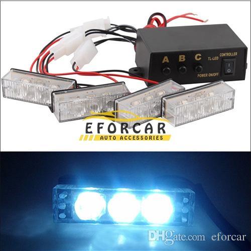 12 LED سيارة شاحنة ستروب أضواء التحذير في حالات الطوارئ ضوء فلاش الأنوار 12V 3 وسائط وامض الأزرق + الأحمر