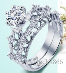 Die neue Boutique S925 Diamantring, Modesimulation Diamant, Ring glänzend schön