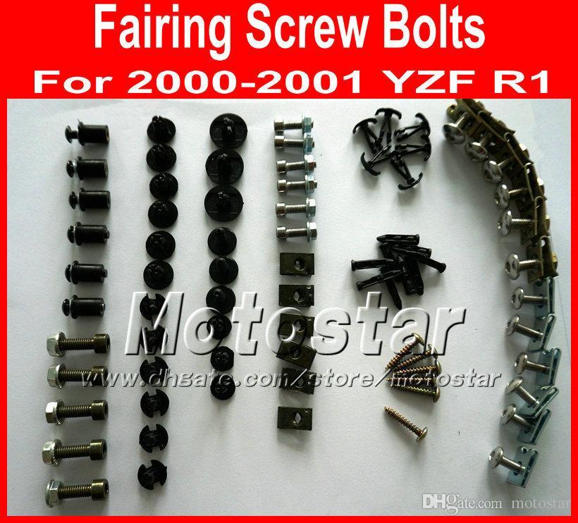 YAMAHA 2000 için yeni profesyonel Motosiklet Kaporta vida cıvataları set 2001 YZFR1 YZF R1 00 01 siyah aftermarket fairings cıvata vidalar parçaları