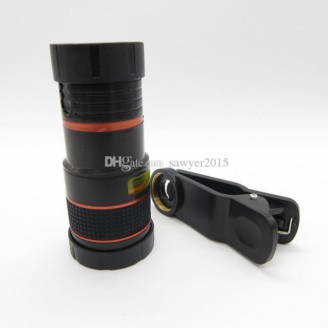 Универсальный 8X оптический зум телескоп объектив камеры клип телескоп мобильного телефона для iPhone6S 5S для Samsung для HTC Huawei с розничной коробке