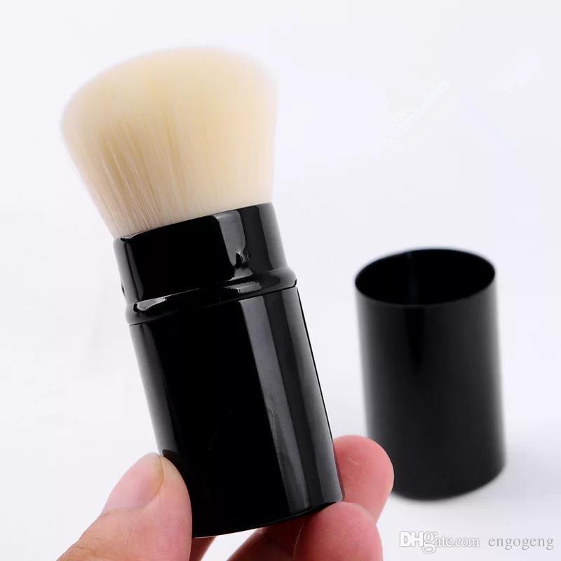 klassischer Make-up-Pinsel mit Logo Tragbarer, ausziehbarer Pilzpinsel
