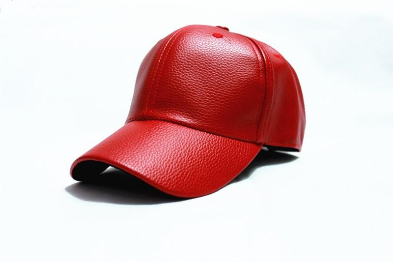 8a5f450b5 2016 winter PU Leather Baseball Cap Biker Trucker outdoor Sports snapback  Hats For Men women hats and caps wholesale