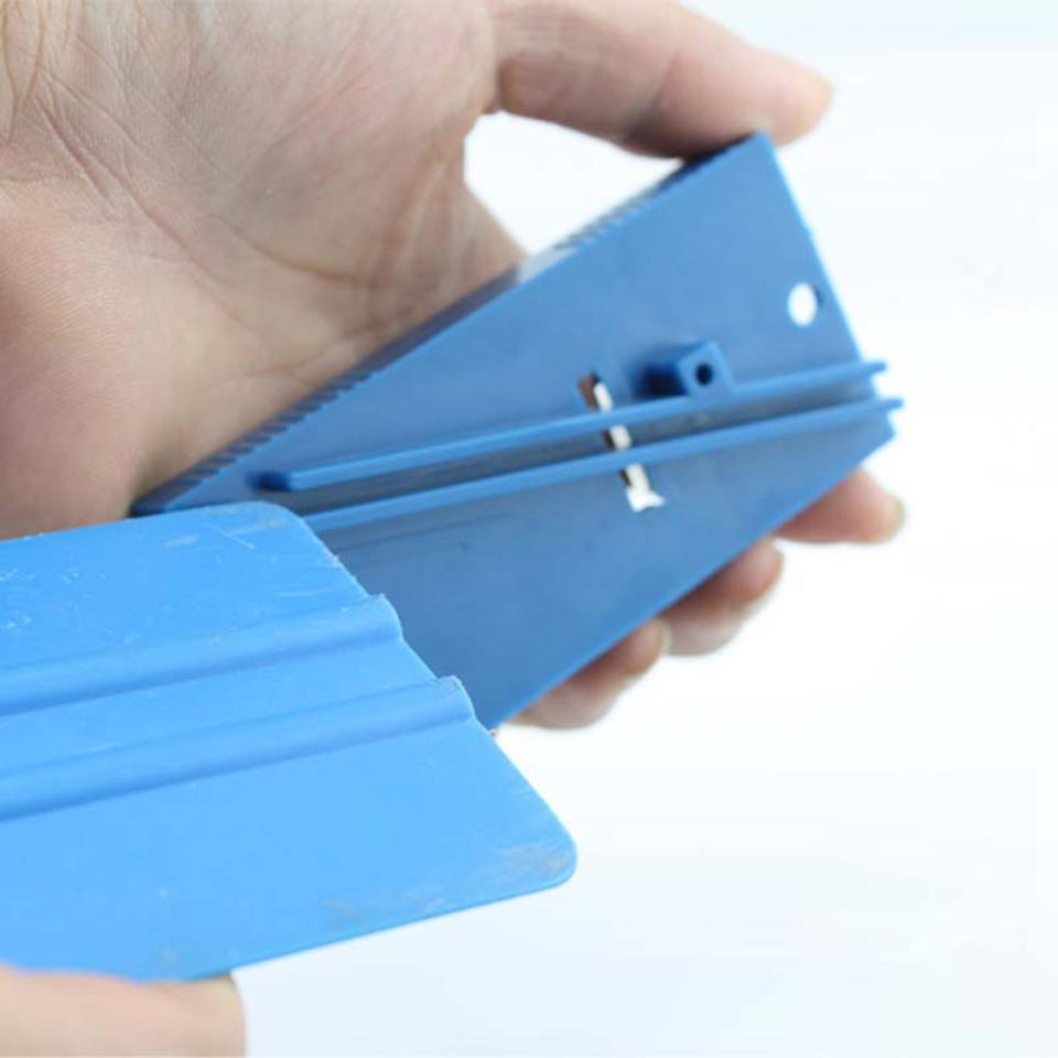 4.5*9.5cm scraper repair tool Plastic blue squeegee trimmer Hard Card Sharpening Tool for vinyl application MO-126