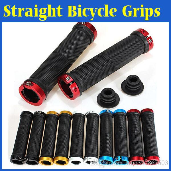 1 Pair Mountain Bike MTB BMX Bicycle Cycling Double Lock On Handlebars Grip Ends
