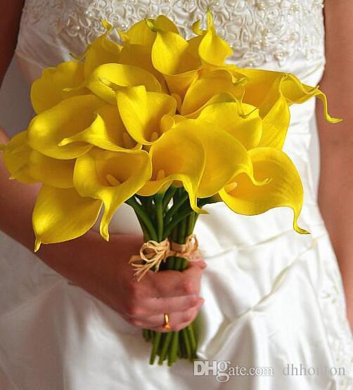 Bridal bouquet calla lily Bulbs for Bridal Wedding Bouquet latex calla flower for home and garden wedding decoration flowers