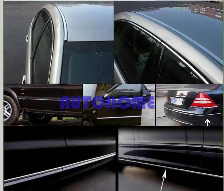 Chrome Moulding Trim Strip Car Interior Exterior Grill Door Window Decorated DIY (5)