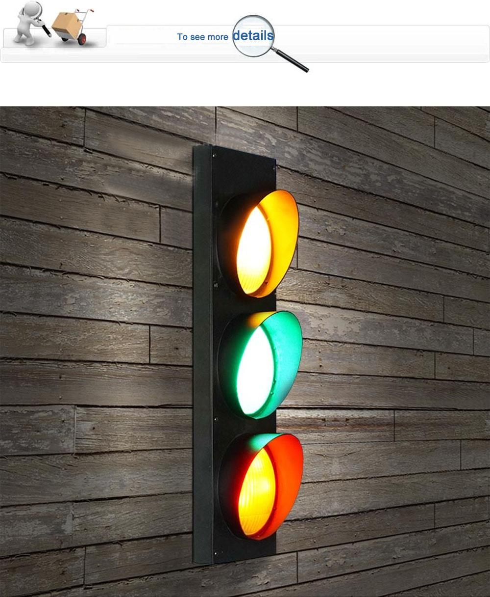 GreenRedYellow Light Color Black American Style Traffic Signal - Traffic light for bedroom