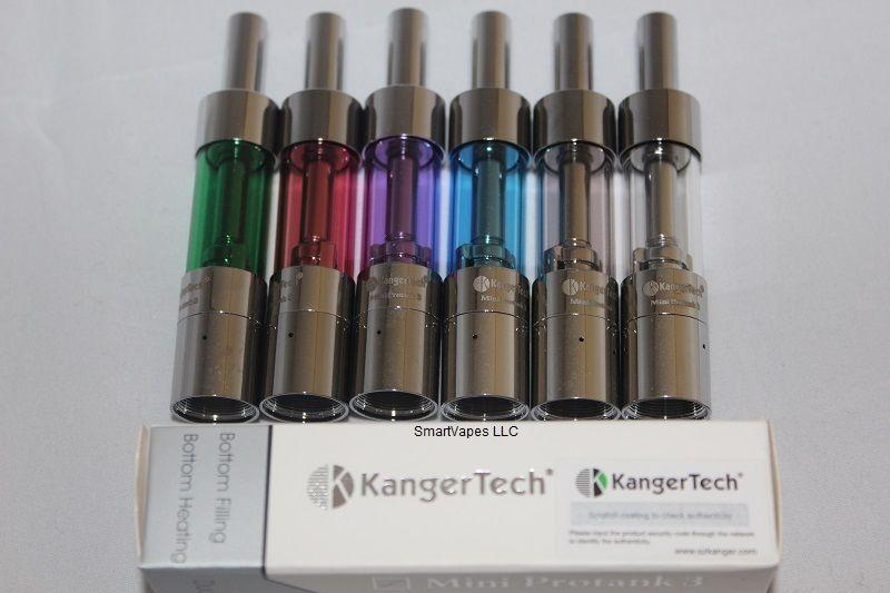 Kanger mini protank 3 Kangertech Atomizer mini Pro tank 3 Atomizer Clearomizer 1.5ohm coil head SS tip Pyrex Glass Mini Protank3