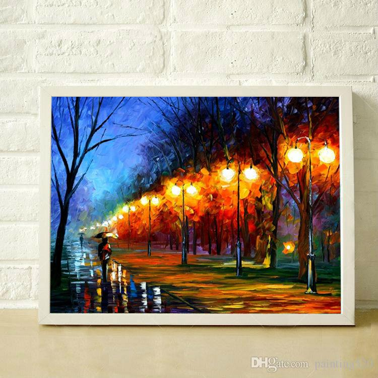 100% Pure hand painted color oil painting modern simple decorative arts high quality canvas knife painting JL009