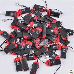 düdük USB 2.0 T-flash bellek kart okuyucu TF kart okuyucu micro SD kart okuyucu, DHL, FedEx ücretsiz kargo 500pcs