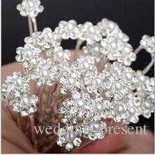 2015 Shiny Bridal Hair Accessories Pearls Hair Pins Hot Sale Colorful Girls U Hair Clips Wedding Event Hair Jewellery Full Rhinestone