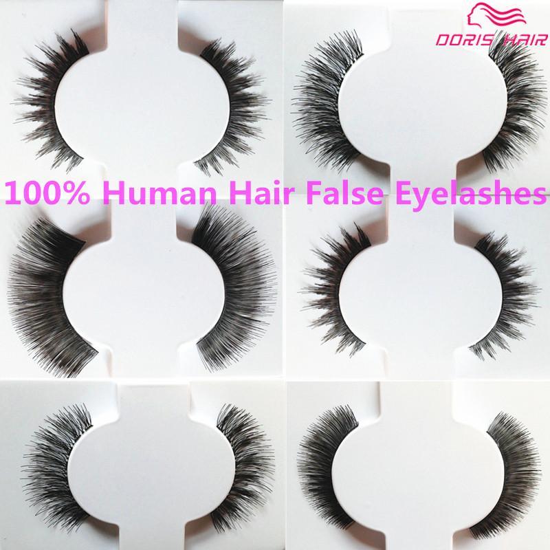 False Eyelashes human hair Natural OR Thick Fashion Lash Blink Black Full Strip Fake Lashes Makeup Tool Free shipping