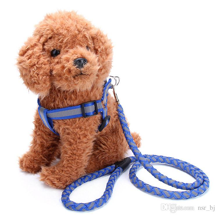 Light Reflection Dog Harness and Leash Comfortable to Hold Strong Sturdy Lightweight Dog Leash Highly Reflective for Safety Perfect Length