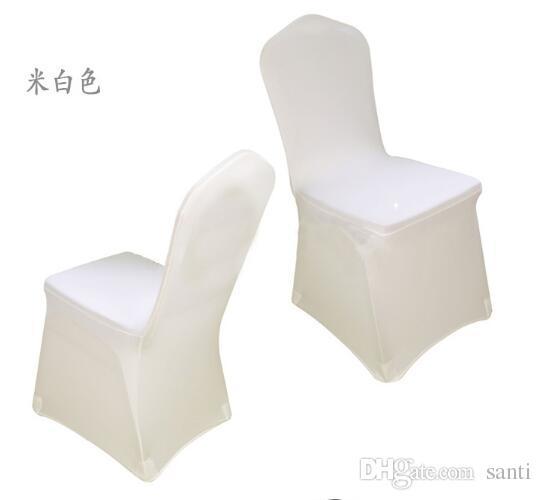 Nouvelle arrivée universelle Spandex chaise de soirée de mariage couvre spandex blanc couverture de chaise pour lycra soirée de mariage Banquet nombreuses couleurs