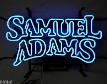 "Samuel Adams Beer Lager Neon Sign Custom Handmade Real Glass Tube Bar KTV Club Pub Store Shop Advertising Display Neon Signs 17""x10"""