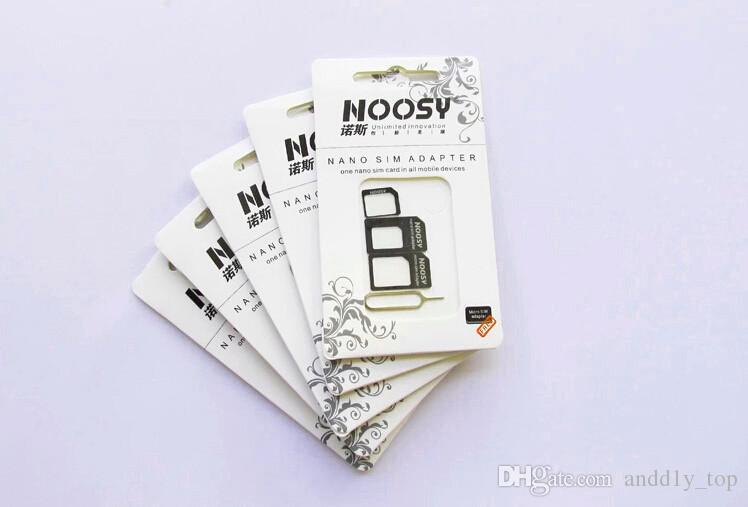 Noosy Nano Micro Sim Card Padrão Convertion Converter Nano Sim Adaptador Micro Sim Card para o iPhone 6 Plus Todos os dispositivos móveis S10