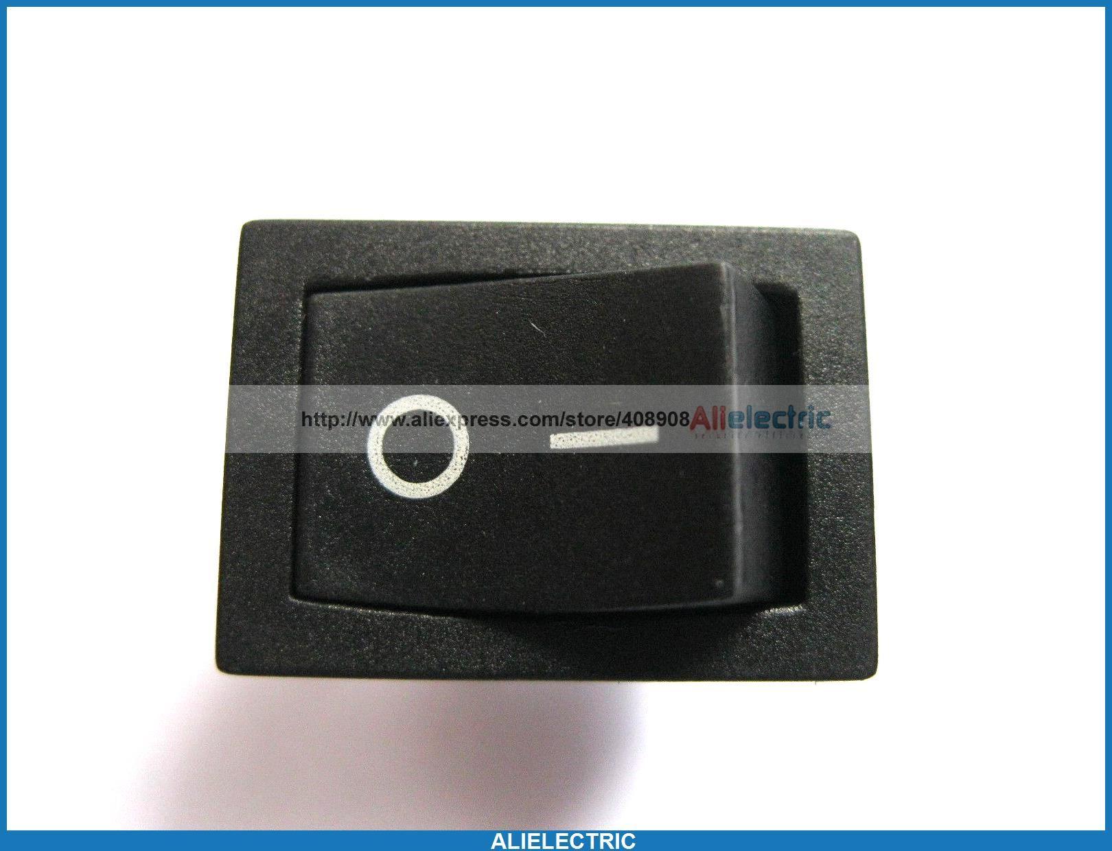80 Stück Wippschalter KCD1 101 auf Off Black Cap 2pol 6A 10A 21x15mm