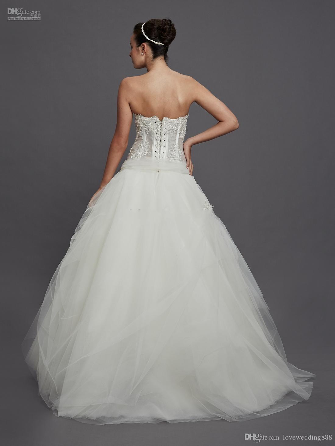 Custom made ball gown Corset and Tulle wedding dress Pnina Tornai ...