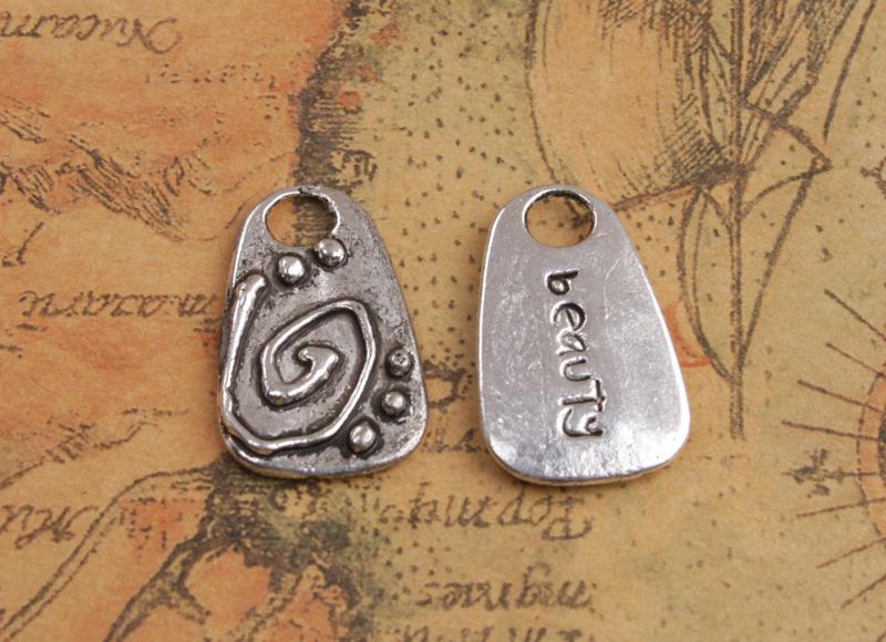 30PCS Antiqued Silver Balance Beauty etc Word charms Pendants