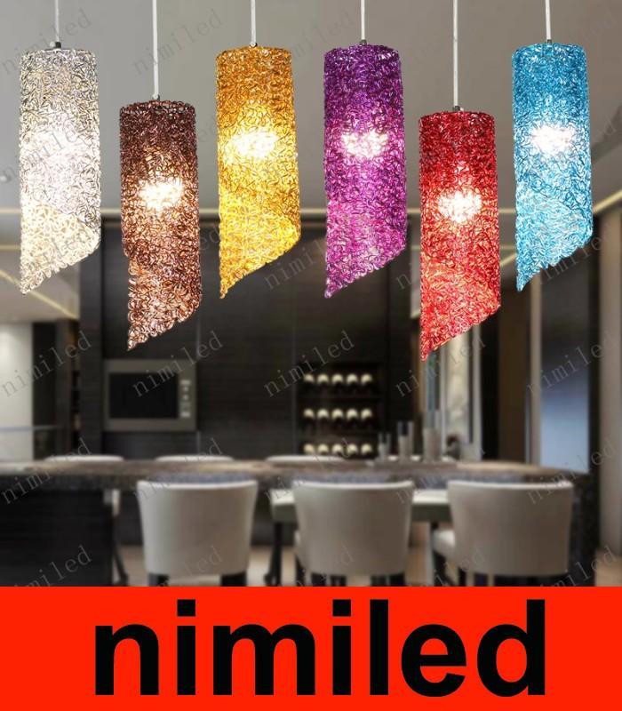 nimi767 식당 램프 샹들리에 다이닝 룸 바 알루미늄 실린더 램프 크리에이티브 피날레틱 조명 거실 호텔 펜던트 조명