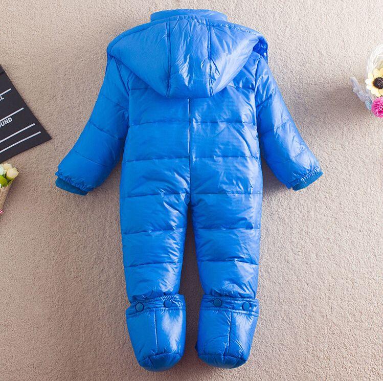 ed2b7d570 2019 Winter Newborn Boys Bodysuits Baby Turtleneck Down Coats Girl ...