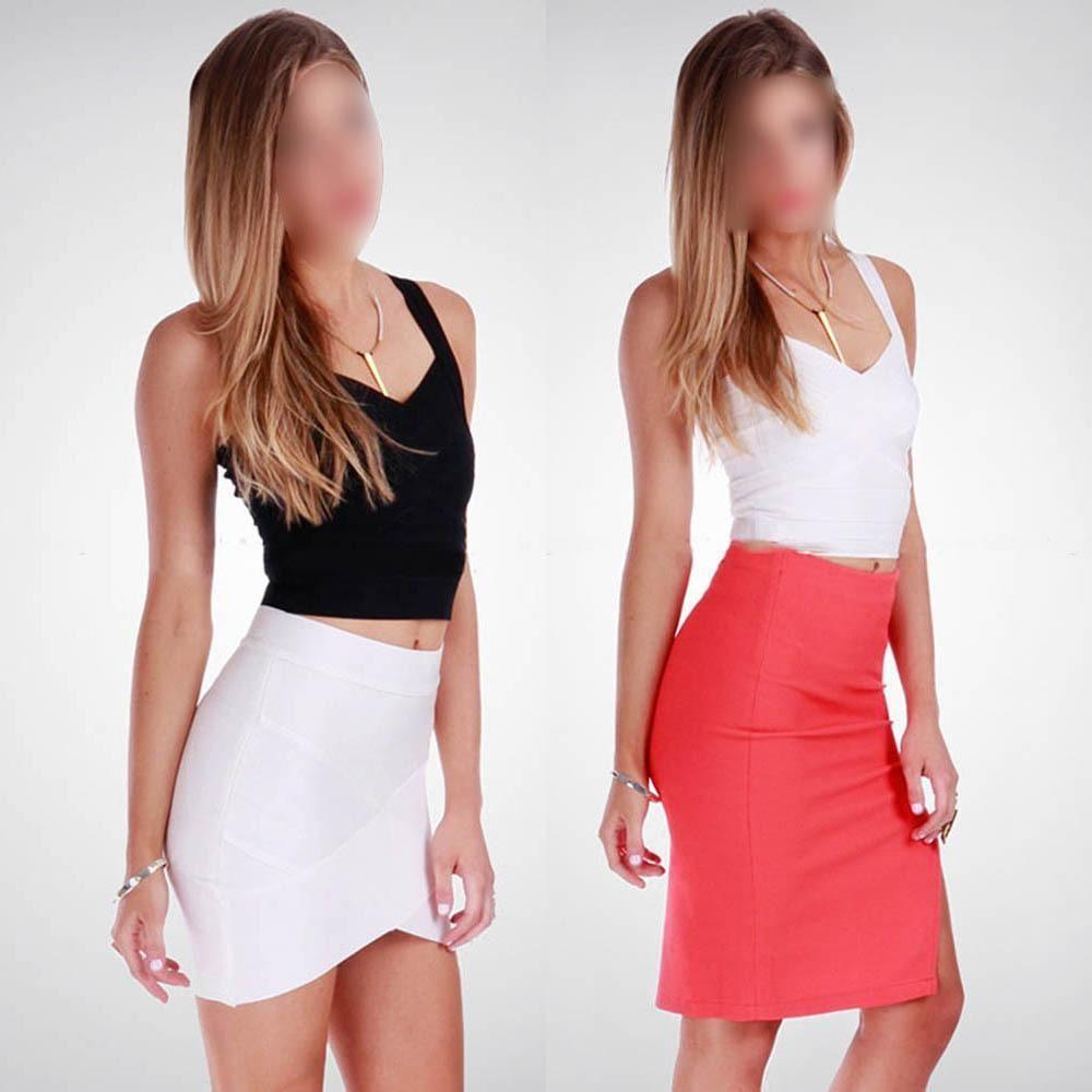 FreeShipping Sexy Womens V-neck Bandage Cropped Tops Clube Cami Regatas Vest Voltar Zipper Vest